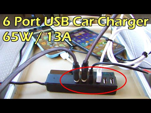 6 Port 13A USB Car Charger Full Review