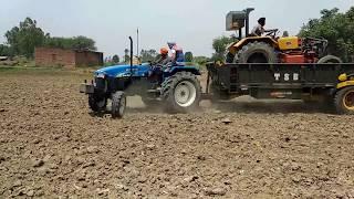 Hindustan tractor unload for harrow competition in khera brahmanan