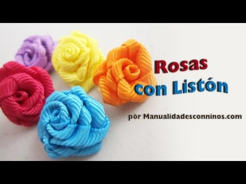 Episodio 576 - Cómo hacer rosas de listón o cinta de gro