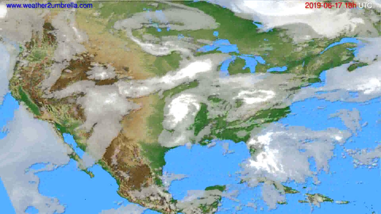 Cloud forecast USA & Canada // modelrun: 00h UTC 2019-06-15