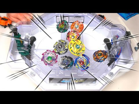 Beyblade Burst GOD BEY BATTLES In The Avatar Attack Stadium By Hasbro