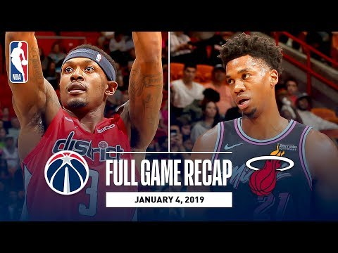 Video: Full Game Recap: Wizards vs Heat | Whiteside Records Double-Double