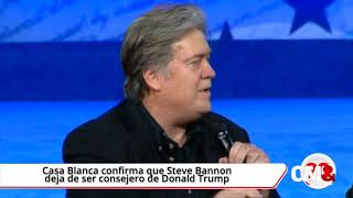 El estratega jefe de la Casa Blanca, Steve Bannon, una polémica figura vinculada a la extrema derecha y al populismo, dejó hoy...