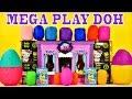 Video: Mega Play Doh Surprise Eggs Toys Frozen Spongebob LPS MLP Barbie Cars Shopkins Hello Kitty Superhero