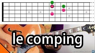 """Dans cette vidéo j'explique les choses essentielles à connaitre pour faire du """"comping"""", un accompagnement improvisé utilisé en jazz. Positions d'accords drop 2, choix des enrichissements, choix des rythmes, adaptation à la formation (comment faire avec un piano ?). Les exemples de comping joués dans cette vidéo sont tous relevés et téléchargeables ici.Les fichiers PDF et GP5 :- https://www.guitare-improvisation.com/videos/docs_astuces_improvisateur/le_comping/accords_drop_2.pdf- https://www.guitare-improvisation.com/videos/docs_astuces_improvisateur/le_comping/le_comping.pdf- https://www.guitare-improvisation.com/videos/docs_astuces_improvisateur/le_comping/le_comping.gp5Playlist Bass/Drums :- https://youtu.be/bfLvgJKmbh0?list=PLUExMPmFbP3r3A8Qr6OSXjl6Woz3M7-VwCes pages du site Guitare Improvisation propose aussi des explications concernant le comping :- https://www.guitare-improvisation.com/accompagnement-jazz-avance.php- https://www.guitare-improvisation.com/groove_accompagner-en-accords-sur-3-cordes.php- https://www.guitare-improvisation.com/les-accords_les-accords-de-jazz.phpEt des cours vidéos très détaillés sont disponibles ici :- https://www.guitare-improvisation.com/video_le-comping.php- https://www.guitare-improvisation.com/video_accompagner-sur-un-standard.php- https://www.guitare-improvisation.com/video_accompagner-sur-un-standard-avance.php- https://www.guitare-improvisation.com/video_jouer-un-theme-en-accords.phpSi cette vidéo vous a fait progresser pensez à soutenir mon travail en faisant un don ici : https://goo.gl/B9eXzk:::::::::::::::::::::::::::::::::::::::::::::::::::::::::::::::::::::::::::::::::::::Pour suivre les actualités du site, abonnez-vous à cette chaîne Youtube ou likez cette page Facebook : https://www.facebook.com/GuitareImprovisation"""
