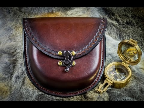 How I make a Large Wet moulded Leather Possibles Belt Pouch