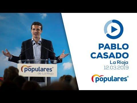 Pablo Casado clausura el acto de presentación de candidatos del PP a las alcaldías de La Rioja
