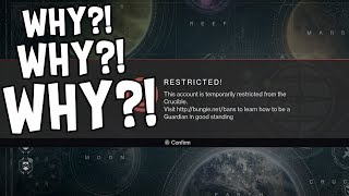 Stupid reasons Destiny players got banned.● Follow my Twitch! https://www.twitch.tv/sloppyjoestudio● Follow my Twitter https://twitter.com/RifleGaming● Follow my Facebook (The Gaming Outlet) - https://www.facebook.com/The-Gaming-Outlet-102946243552311/
