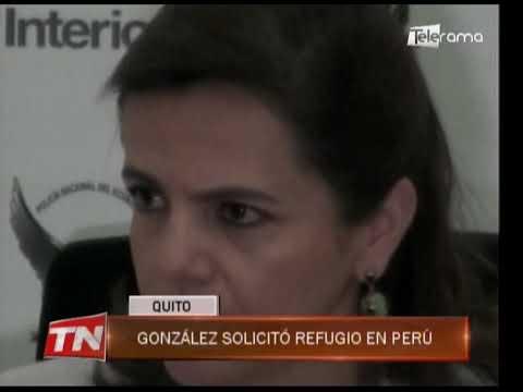 González solicitó refugio en Perú
