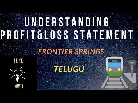 Profit & Loss Statement - Important Financial Analysis in Fundamental Analysis - Telugu