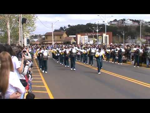 Desfile 7 de setembro 2013 Fanfara Dotti em Caçador - SC