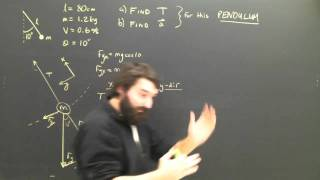 Physics Lesson: Centripetal Force Part 6 Pendulum Dynamics For High School