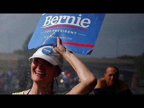 ΗΠΑ: Διαδήλωση υποστήριξης για τον Μπέρνι Σάντερς