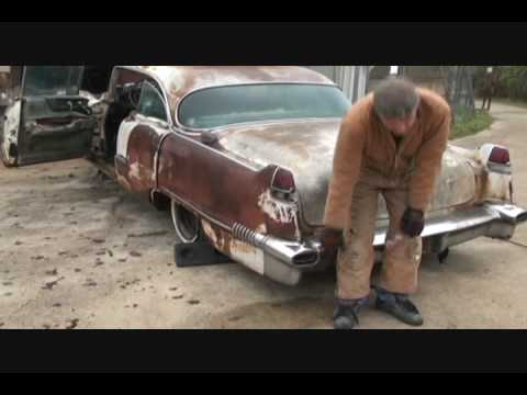 1956 Cadillac-Custom Desk-Removing the Front Clip and Bumper