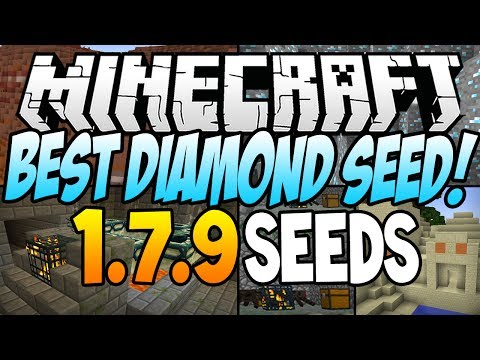 "★ Minecraft Seeds - ""BEST DIAMOND SEED"" - (23 Diamonds, 6 Temples, 4 Villages, 2 Dungeons) 2014"