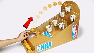 How to make NBA Basketball Board Game using Cardboard