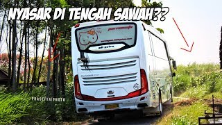Video BUS INI MASUK TENGAH SAWAH?? | Menguji Skill Driver Putar Balik di Jalan Sempit MP3, 3GP, MP4, WEBM, AVI, FLV Agustus 2018