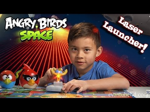 Angry Birds Space LASER LAUNCHER Toy – EPIC Red Laser Destruction!!!