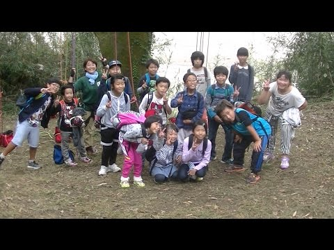ツリーブランコ? 中浜小学校 山の学習 2016