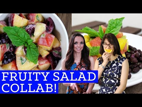 Fruity Salads! Collaboration with Nic's Nutrition! Easy Healthy QUICK Fruit Salad Recipes