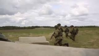 Комплексные тактико-огневые занятия с подразделениями ВДВ