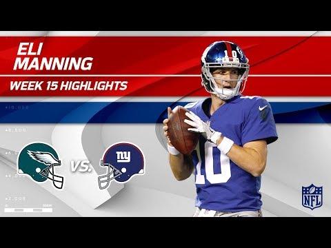 Video: Eli Manning Highlights | Eagles vs. Giants | NFL Wk 15 Player Highlights
