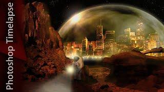 Mars - Photoshop Timelapse