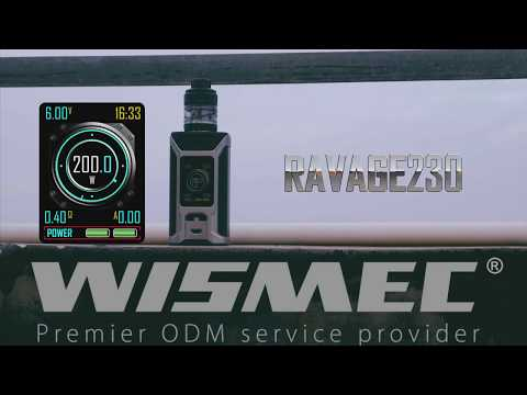 Wismec Sinuous RAVAGE230 в комплекте с GNOME Evo (230W, без аккумуляторов) - видео 1