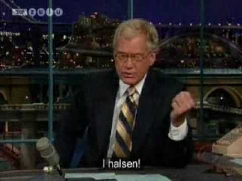 Late Show: David Letterman is cold