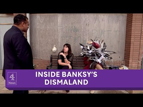 Channel 4 News Dismaland inside Banksy  s dystopian