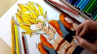 Drawing - Gogeta SSJLet me know what about what you think below!!(If you have any suggestion for me to draw, let me know in the comment)Equipment and Art Tools- Color Pencil: Caran d'ache - Prismalo Color Editing equipment- Sony DSC-WX50 (Amazon: http://goo.gl/P7UzH5)- Final Cut Pro X & iMovie (Mac App Store)- Manfrotto Compact Tripod (Amazon: http://goo.gl/QsZuCM)- SelfieStickMusic: Force - Alan Walker