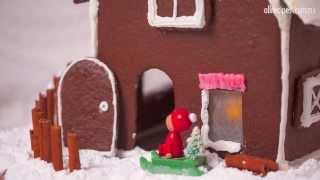 Casa navideña de galleta de jengibre