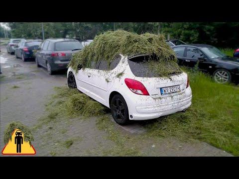 Mistrzowska akcja za parkowanie na trawniku w Warszawie