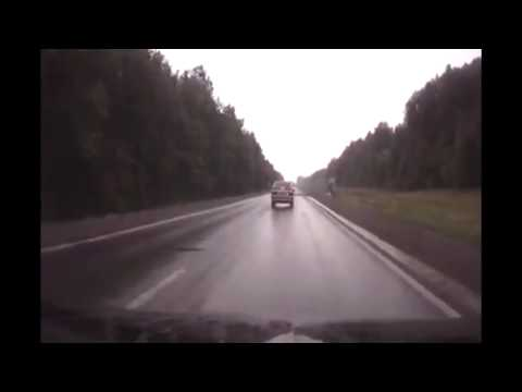 Dash cam captures deer running out in front of vehicle, promoting it to flip