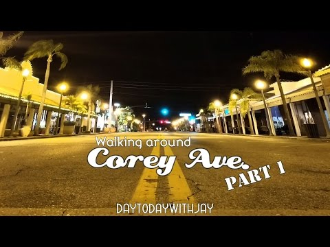 Night Exploring Episode 1! Corey Ave, St Pete Beach, Abandoned Theater, Alone on the street!