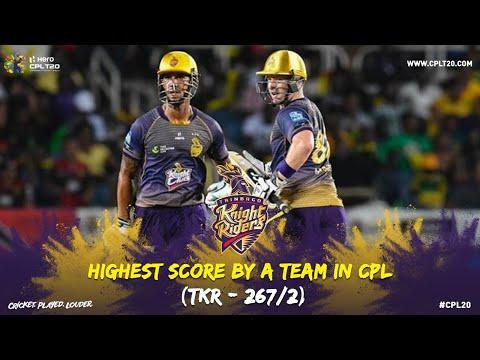 HIGHEST SCORE BY A TEAM AT CPL | #CPL20 #TKRInFocus #CricketPlayedLouder #TKR