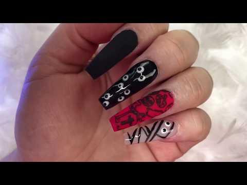 Decoracion de uñas - Uñas en tono negro matte