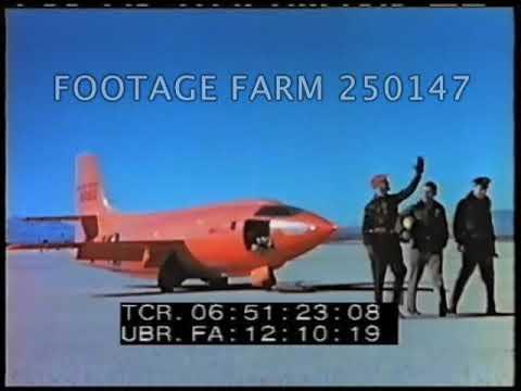 X-1 Ground Take Off & In Flight - 250147-11   Footage Farm Ltd