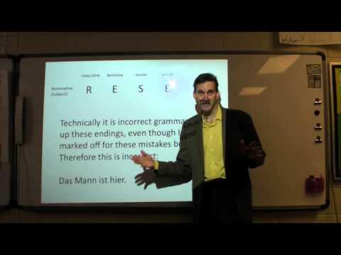 Secret of the German Language Lesson 1 (видео)