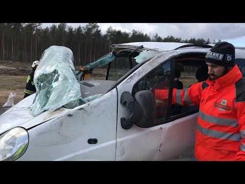 Wideo: Wypadek na serwisowej S3 Lubin-Polkowice