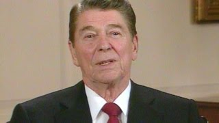 Ronald Reagan pays tribute to late producer Hal B. Wallis at the very first AFI FEST in Los Angeles.