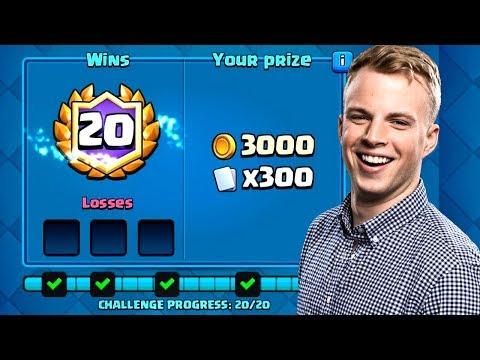 Clash Royale - BEST 20 WIN CHALLENGE DECK! (видео)