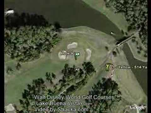 """Walt Disney World Golf Courses (Lake Buena Vi"" Flyover Tour"