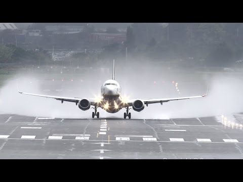 Water spray takeoffs @ Birmingham Airport