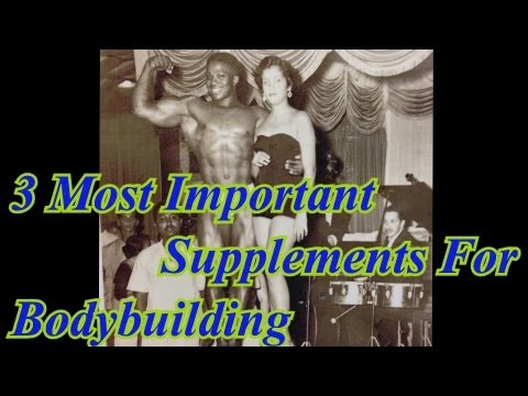 3 Most Important Supplements for Bodybuilding – Leroy Colbert