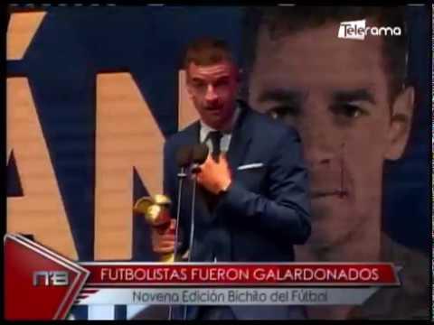 Futbolistas fueron galardonados Novena edición Bichito del Fútbol