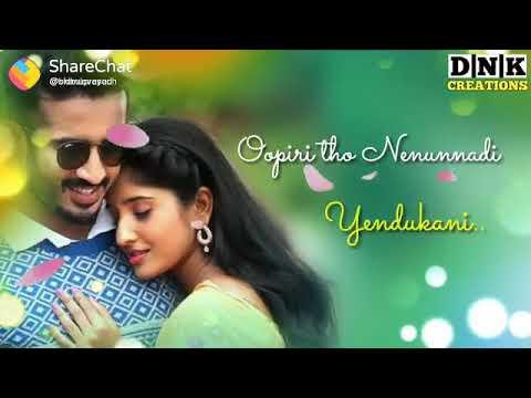Nuvikaravani edhalo chappudu love status (видео)