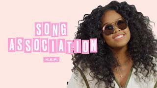 H.E.R. Sings Aaliyah, Adele, and Aretha Franklin in a Game of Song Association | ELLE