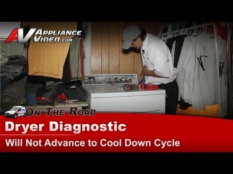 Whirlpool Dryer Diagnostic - Will Not Advance To Cool Down Cycle - LER5848EQ5