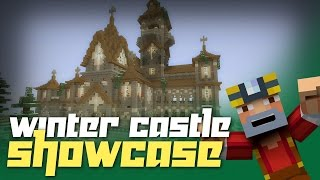 Minecraft Xbox 360: Awesome Winter Castle Tour and Showcase!